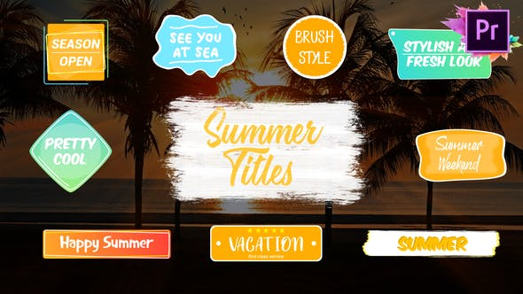 Thumbnail for Colorful Summer Titles | Premiere Pro MOGRT