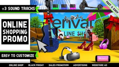 Online Einkaufsgeschäft Promo