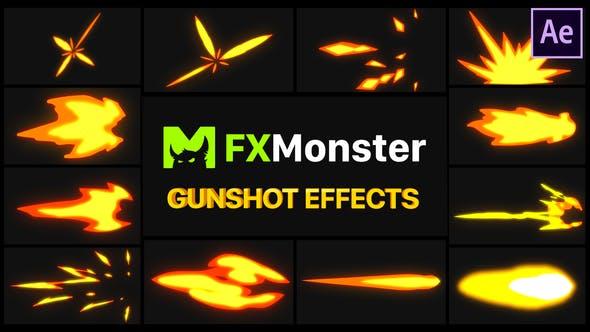 Thumbnail for Gunshot Effects | After Effects