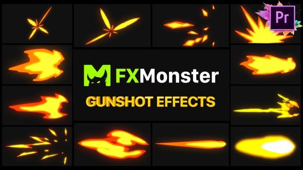 Thumbnail for Gunshot Effects | Premiere Pro MOGRT