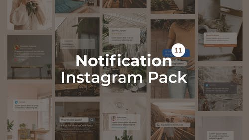 Notification Instagram Pack   Vertical and Square