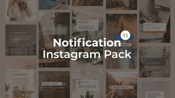 Thumbnail for Notification Instagram Pack | Vertical and Square