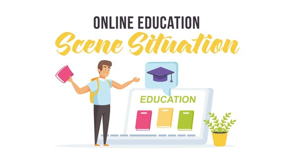 Online-Bildung - Szenensituation