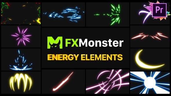 Thumbnail for Éléments énergétiques | Premiere Pro MOGRT