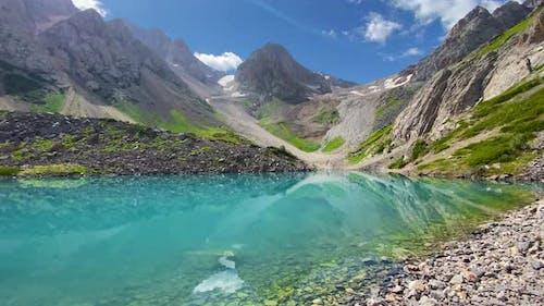 Beautiful Nature Norway Landscape with Mountain Lake