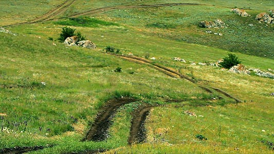 Road in Steppe
