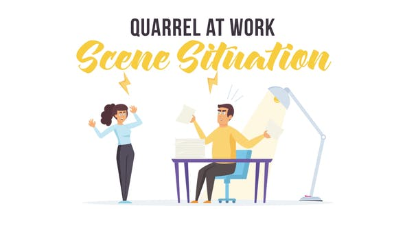 Thumbnail for Quarrel at work - Scene Situation