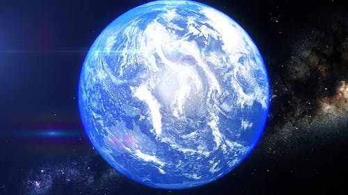 Realistic Earth Zoom Red Sea