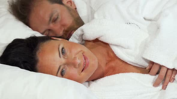Thumbnail for Beautiful Mature Woman Going To Sleep with Her Husband at Home 1080p