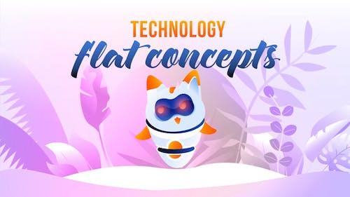 Technologie - Flat Concept
