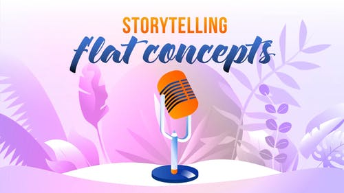 Storytelling - Flat Concept
