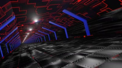 VJ loop of a futuristic tunnel.