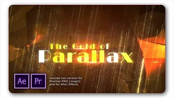 Presentación de diapositivas de tráiler Parallax dorado