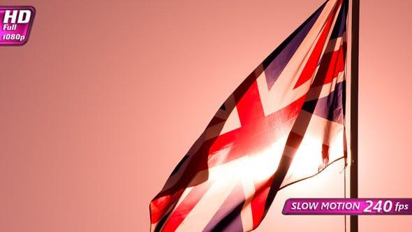Thumbnail for British Flag In Back Sunlight