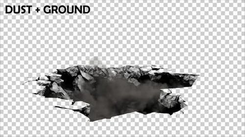 Ground Collapse With Dust
