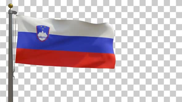 Thumbnail for Slovenia Flag on Flagpole with Alpha Channel