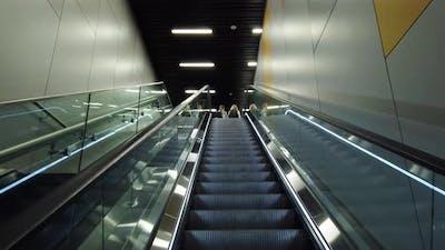 Escalator at the International Airport