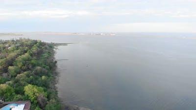 Seashore. Estuary. Sea