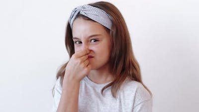 Disgusted Kid Picky Naughty Girl Rejecting Offer
