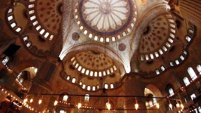 Istanbul Blue Mosque Interior 2