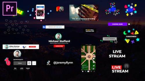 Social Media Elements v2 - for Premiere Pro | Essential Graphics