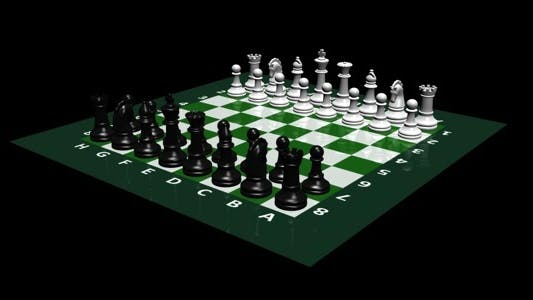 Chess Board And Pieces - Loop