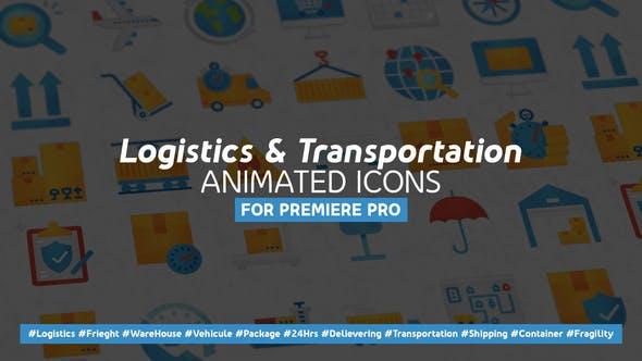 Thumbnail for Logistique et transport Icones plates modernes animées - Mogrt