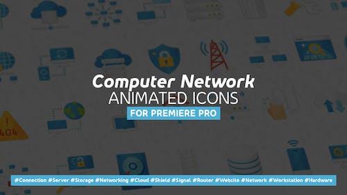 Computer Network Modern Flat Animated Icons - Mogrt