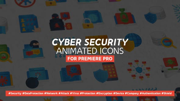 Thumbnail for Cyber Security Moderne flache animierte Icons - Mogrt