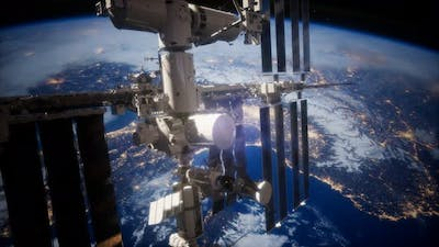 A View of the Earth and a Spaceship