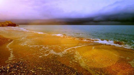 Meerlandschaft In Eine Ruhige Bucht
