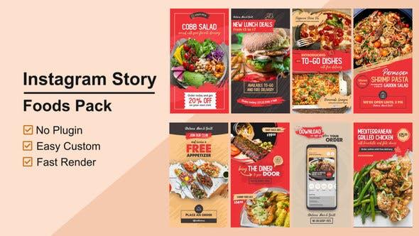 Thumbnail for Food Instagram Stories V12