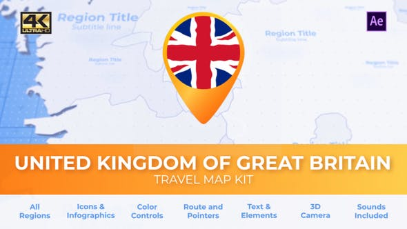 Thumbnail for United Kingdom of Great Britain Map - United Kingdom Travel Map