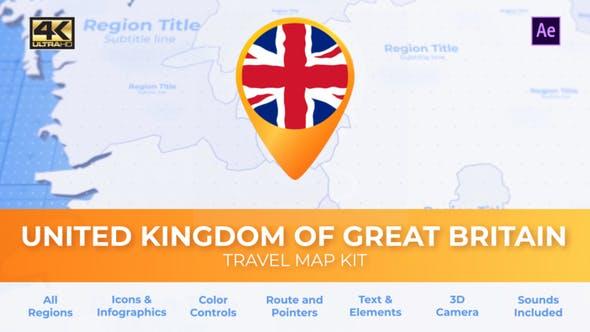 United Kingdom of Great Britain Map - United Kingdom Travel Map