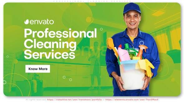 Thumbnail for Professional Cleaning Services Promo