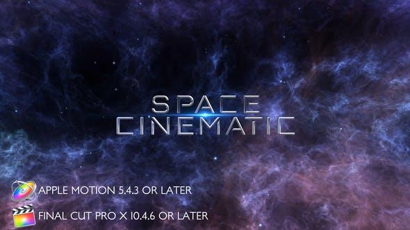 Thumbnail for Titres Cinématographique graphiques de l'espace - Apple Motion