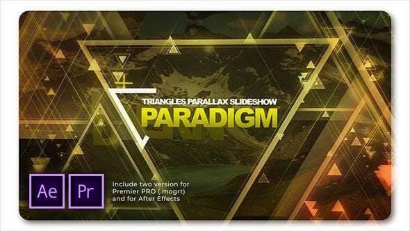 Paradigmen-Dreiecke Parallax-Diashow