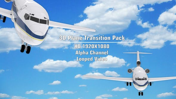 3D Plane Transition Pack