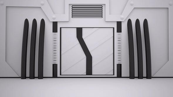 3D Sci-Fi Door Open
