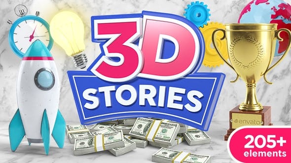 Thumbnail for 3D Animated Icons Toolkit