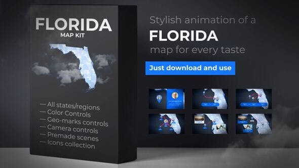 Thumbnail for Florida Map - Florida Map Kit