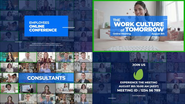 Thumbnail for Online Meeting Video Conference Promo