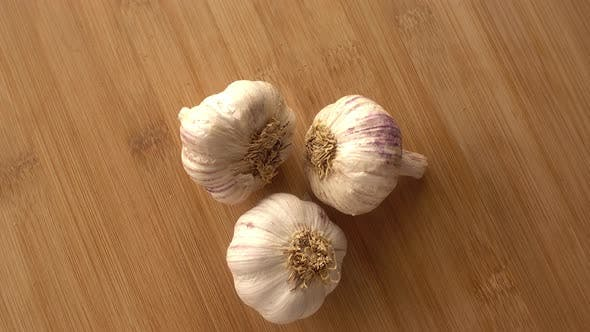 Thumbnail for Garlic in Wood Background