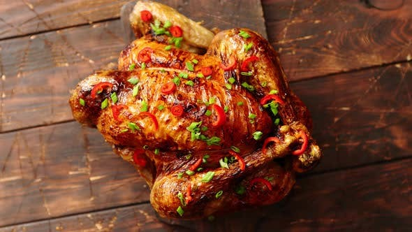 Thumbnail for Homemade Roasted Spicy Chicken with Chilli and Chive