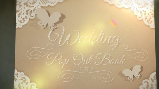 Thumbnail for Wedding Pop Out Book