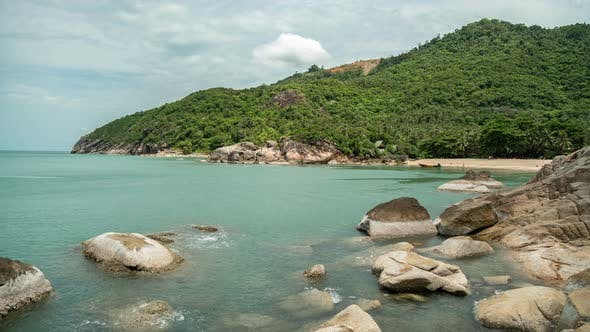 Thumbnail for Timelapse view on the Haad Than Sadet Beach beach, koh Phangan island, Thailand