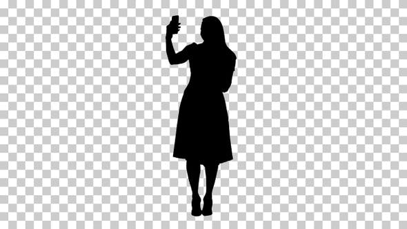 Silhouette woman, Alpha Channel
