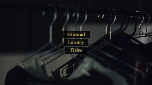 Thumbnail for Titres de luxe minimaux