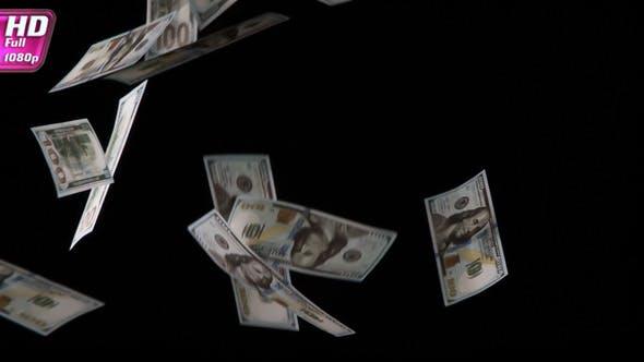 Thumbnail for One Hundred Dollar Bills Soar Up