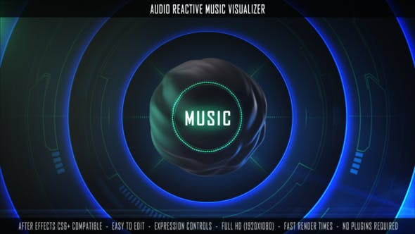 Audio Reactive Music Visualizer